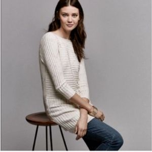 Anthropologie Moth Ribbed Sweater Tunic
